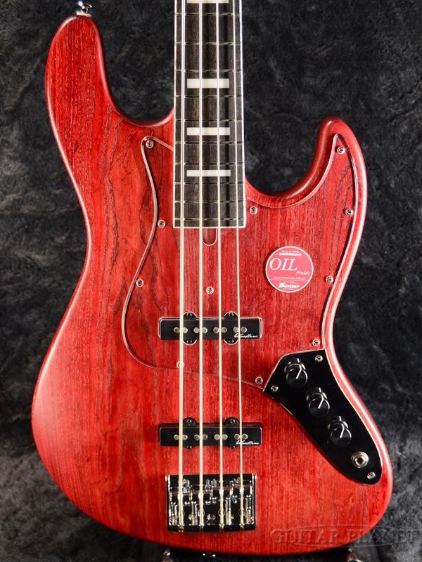 Bacchus WOODLINE417 -Red Oil- 4-Stling Turbo Switch搭載 新品[バッカス][国産][レッドオイル][Jazz Bass,ジャズベースタイプ][Electric Bass,エレキベース]