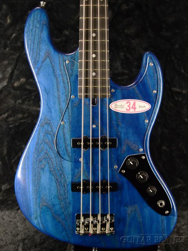 Bacchus WL-434S ASH -Blue Oil- 新品[バッカス][ブルー,青][Jazz Bass,ジャズベースタイプ][Electric Bass,エレキベース]