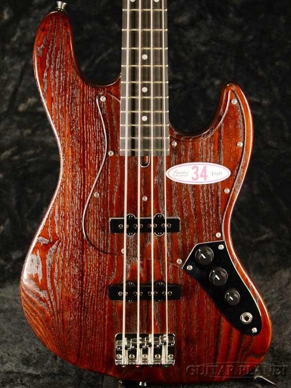 Bacchus WL-434S ASH -Brown Oil- 新品[バッカス][ブラウン,茶][Jazz Bass,ジャズベースタイプ][Electric Bass,エレキベース]