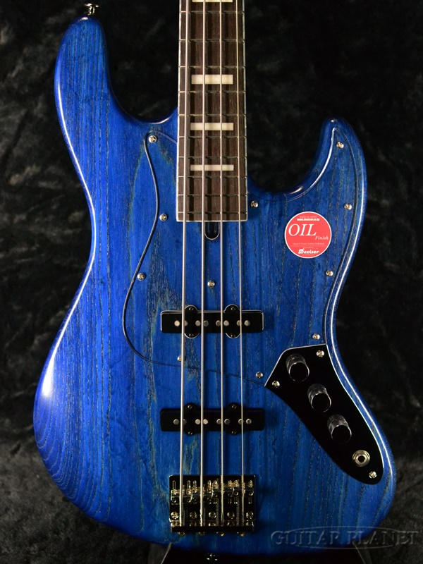 Bacchus WL4DX-ASH -Blue Oil- 新品[バッカス][Craft Series,クラフトシリーズ][国産][ブルーオイル,青][Jazz Bass,ジャズベースタイプ][Electric Bass,エレキベース]
