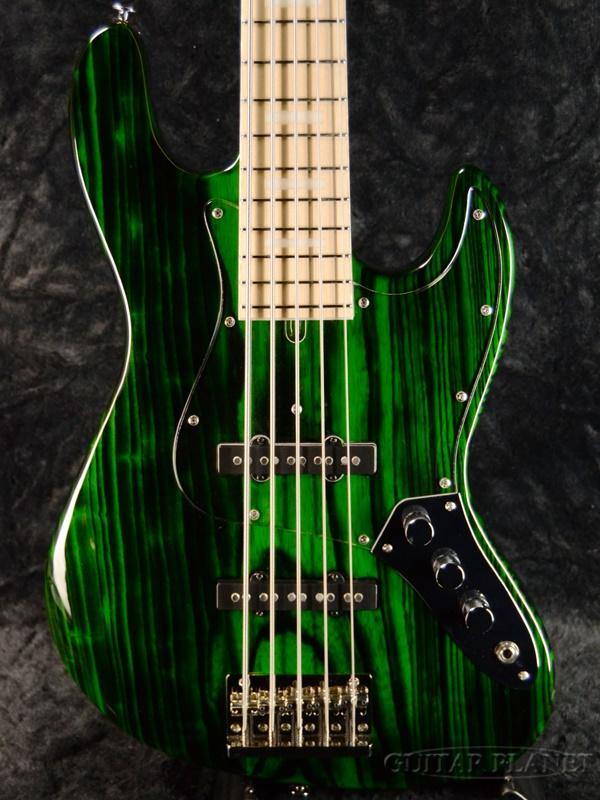 Bacchus ≪アウトレット大特価≫ WL5DX-ASH Burner -STG-BN-MH- 新品[バッカス][国産/日本製][WOODLINE][Green,グリーン,緑][5strings,5弦][Jazz Bass,ジャズベースタイプ][Electric Bass,エレキベース]