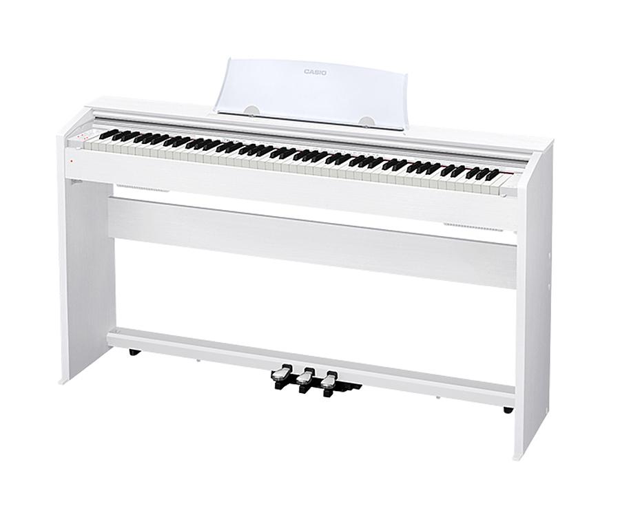 【ヘッドホン、高低自在椅子付】CASIO PX-770WE ホワイトウッド調仕上げ Digital Piano 新品 電子ピアノ[カシオ][88鍵盤][White,白][Digital Piano,デジタル,エレピ][PX770]