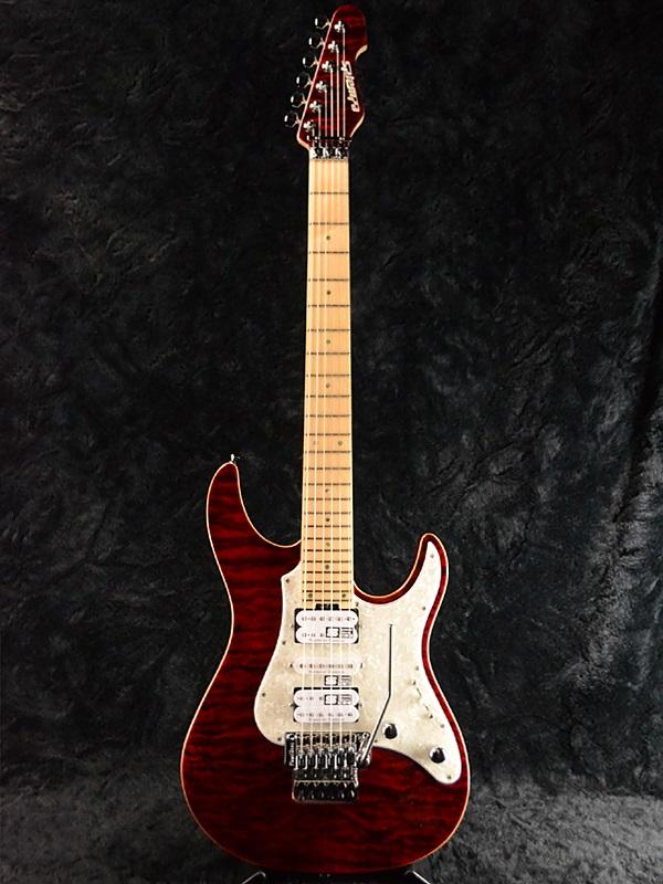 人気新品入荷 Edwards E-SN-150FR 新品 ブラックチェリー[エドワーズ][ESPブランド][Snapper,スナッパー][Stratocaster,ストラトキャスタータイプ][Black Cherry,Red,レッド,赤][Electric Guitar,エレキギター], エルアミーゴ dd013acd