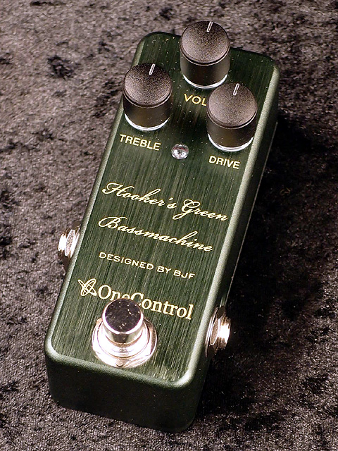 One Control Hooker's Green Bass Machine 新品[ワンコントロール][オーバードライブ][グリーン、緑][Effector,エフェクター]