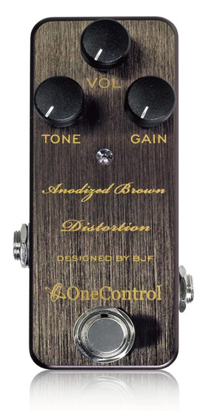 One Control Anodized Brown Distortion 新品[ワンコントロール][ディストーション][ブラウン,茶][Effector,エフェクター]