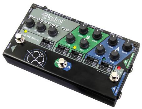 Radial BASSBONE OD 新品 2chベース用プリアンプ/オーバードライブ[ラディアル,ラジアル][ベースボーンOD][Overdrive][Bass Preamp][Effector,エフェクター]