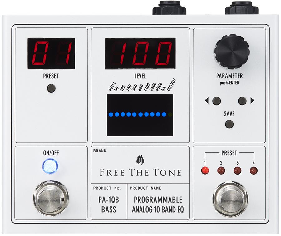 Free The Tone PROGRAMMABLE ANALOG 10 BAND EQ PA-1QB 新品 ベース用デジタルイコライザー[フリーザトーン][プログラム][Equalizer][エフェクター,Effector]