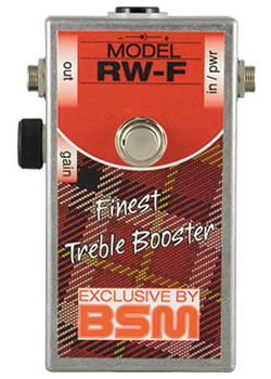 BSM RW-F 新品 ミディアムゲイン・トレブルブースター[Booster][Ron Wood,ロンウッド,The Rolling Stones][Effector,エフェクター]_rs