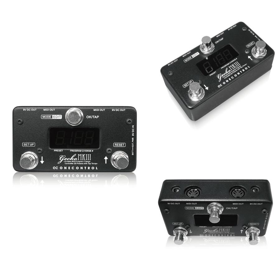 One Control Gecko MkIII 新品 MIDIスイッチ[ワンコントロール][ゲッコー][コントローラー][Effector,エフェクター]