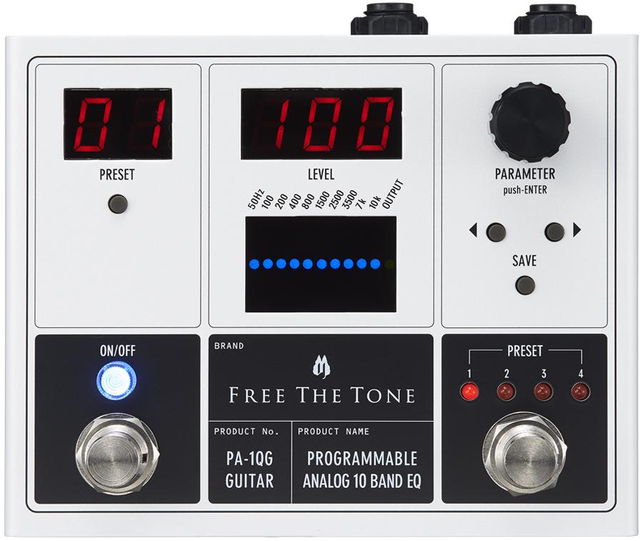 Free The Tone PROGRAMMABLE ANALOG 10 BAND EQ PA-1QG 新品 ギター用デジタルイコライザー[フリーザトーン][プログラム][Equalizer][エフェクター,Effector]