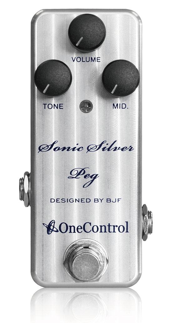 One Control Sonic Silver Peg 新品[ワンコントロール][ソニックシルバーペグ][Bass Overdrive,ベース用オーバードライブ][Effector,エフェクター]