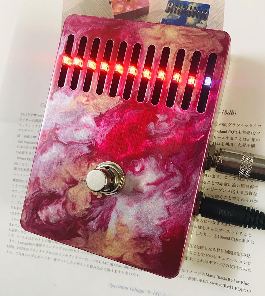 Leqtique 10Band EQ Red Swirled 新品 グラフィックイコライザー [レクティーク][10バンド][Graphic Equalizer,グライコ][Effector,エフェクター]