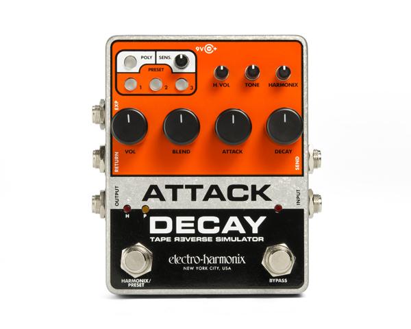 【正規品】electric-harmonix Attack Decay 新品 エンベローブフィルター/オートワウ[エレクトロハーモニクス][アタックディケイ][Effector,エフェクター]