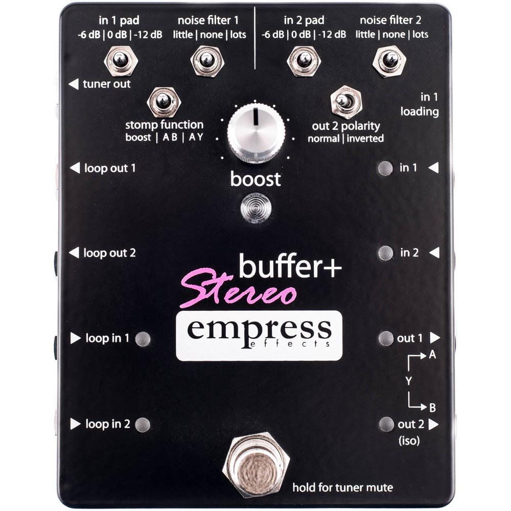 Empress Effects buffer+ Stereo 新品 バッファー/ブースター[エンプレスエフェクツ][バッファーステレオ][booster][Effector,エフェクター]