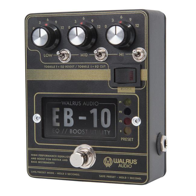 WALRUS AUDIO EB-10 WAL EB10 #B Matte Black 新品 プリアンプ、イコライザー、ブースター[ウォルラスオーディオ][EB10][Effector,エフェクター]
