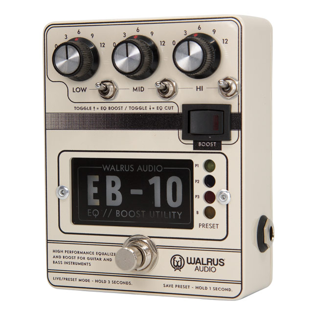 【受注発注カラー】WALRUS AUDIO EB-10 WAL EB10 #C(Cream) 新品 プリアンプ、イコライザー、ブースター[ウォルラスオーディオ][EB10][ホワイト,クリーム,白][Effector,エフェクター]