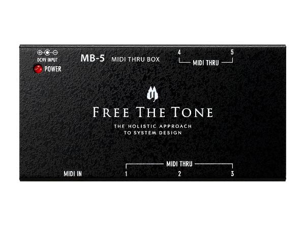 FREE THE 今季も再入荷 TONE MB-5 MIDI THRU 新品 フリーザトーン エフェクター 信託 Effector BOX スルーボックス