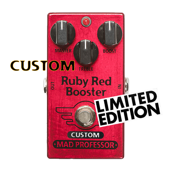 """【LIMITED EDITION】MAD PROFESSOR RUBY RED BOOSTER """"NASHVILLE HOT MIDS SOLO BOOST"""" MOD 新品 ブースター [マッドプロフェッサー][ルビーレッド][ソロブースト][Effector,エフェクター]"""