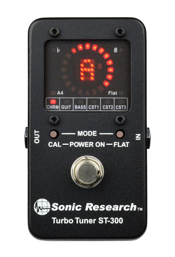 Sonic Research Turbo Tuner ST-300 新品 ギター・ベースチューナー[ソニックリサーチ][ターボチューナー][Chromatic Tuner,クロマチック][Pedal Tuner,ペダルチューナー]