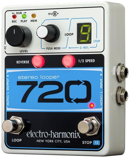 【純正アダプター付属】【正規品】electro-harmonix 720 Stereo Looper 新品[エレクトロハーモニクス][ステレオルーパー][Effector,エフェクター][動画]