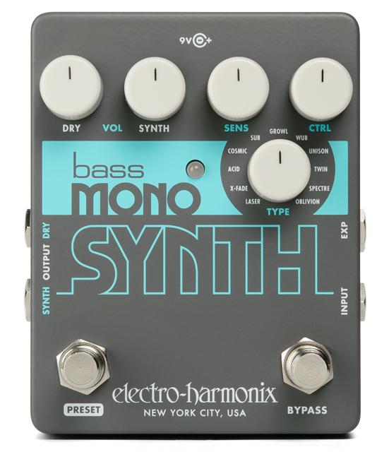 【正規品】electro-harmonix Bass Mono Synth 新品 ベースシンセサイザー[エレクトロハーモニクス][Bass Synthesizer][Effector,エフェクター]