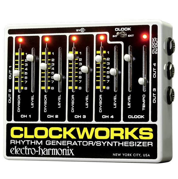【正規品】electro-harmonix Clockworks Rhythm Generator/Synthesizer 新品 ACアダプター付[エレクトロハーモニクス][リズムジェネレーター,シンセサイザー][Effector,エフェクター]