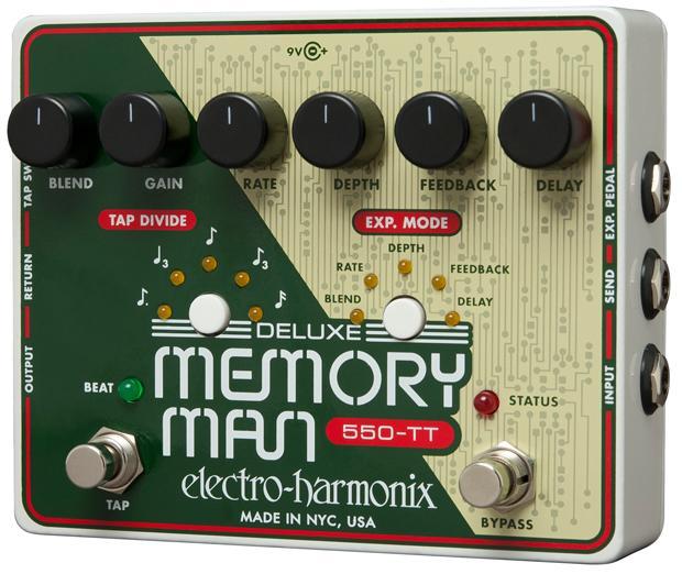【正規品】electro-harmonix Deluxe Memory Man Tap Tempo 550 新品 アナログディレイ[エレクトロハーモニクス][デラックスメモリーマン][タップテンポ][Analog Delay][Effector,エフェクター]