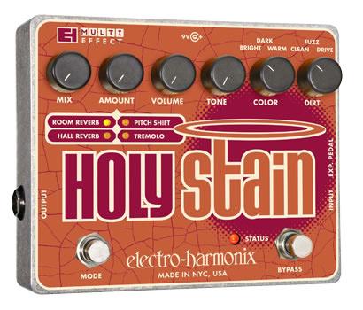 【正規品】electro-harmonix Holy Stain 新品 リバーブ/ピッチシフター/トレモロ[エレクトロハーモニクス][Multi Effector,マルチエフェクター]