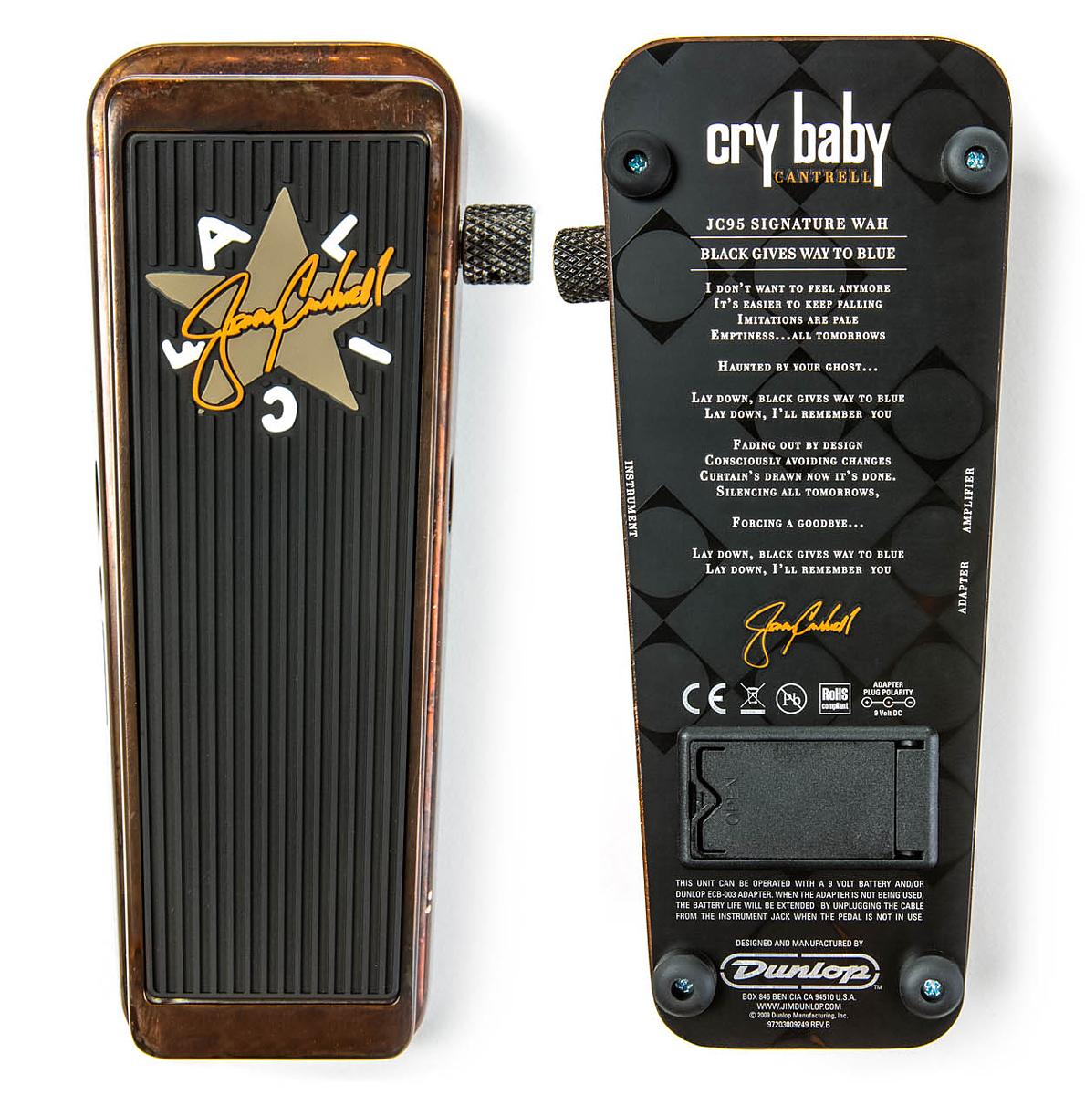 Jim Dunlop Jerry Cantrell Signature Wah CryBaby JC-95 新品 [ジムダンロップ][ジェリーカントレル][ワウペダル][クライベイビー][エフェクター,Effector]_wpdl_arti