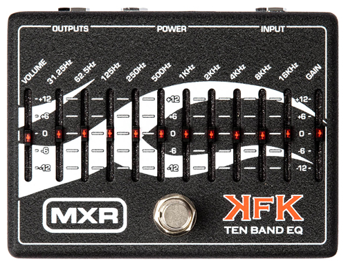 MXR KFK-1 Kerry King 10 BAND EQ 新品[ケリーキング][Graphic Equalizer,グラフィックイコライザー,グライコ][エフェクター,Effector]_arti_cde