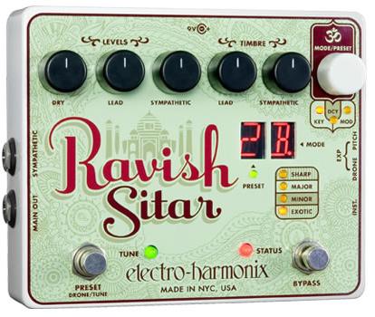 【正規品】electro-harmonix Ravish Sitar 新品[エレクトロハーモニクス][ラヴィッシュシタール][Effector,エフェクター]