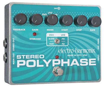 【正規品】electro-harmonix Stereo Polyphase 新品 フェイザー[エレクトロハーモニクス][ステレオポーリーフェイズ][Effector,エフェクター]