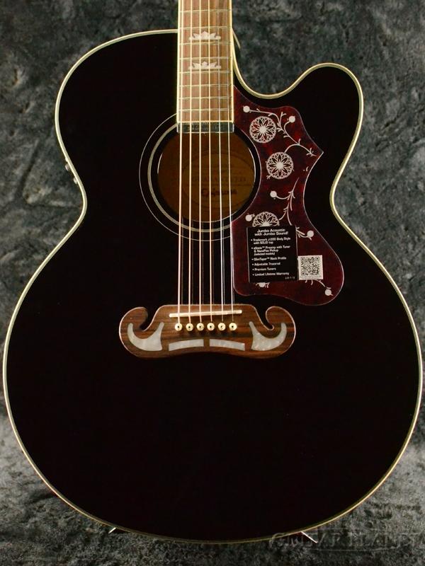 Epiphone EJ-200SCE -Ebony- 新品[エピフォン][EB,ブラック,黒][Electric Acoustic,エレアコ][Acoustic Guitar,アコースティックギター,アコギ,Folk Guitar,フォークギター]
