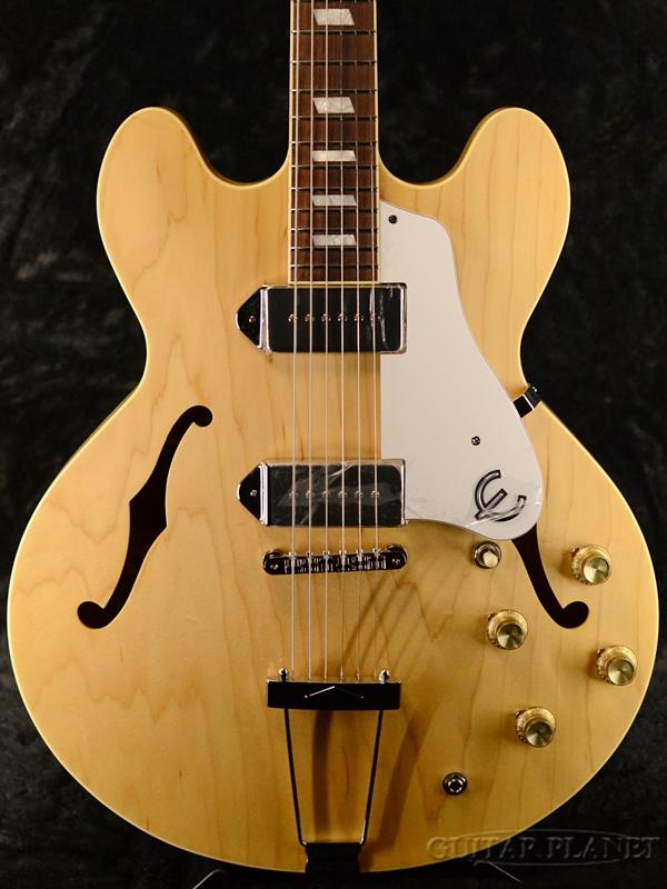 Epiphone Elitist 1965 Casino 新品 ナチュラル[エピフォン][エリーティストカジノ][Natural][セミアコ/フルアコ][日本製,made in japan][エレキギター,Electric Guitar]_fp
