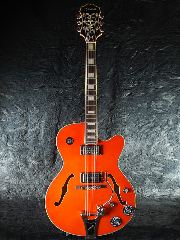【ERNIE BALL4点セット付】Epiphone Emperor Swingster OR 新品 サンライズオレンジ[エピフォン][エンペラー][スイングスター][フルアコ][アーチトップ][Sunrise Orange][エレキギター,Electric Guitar]