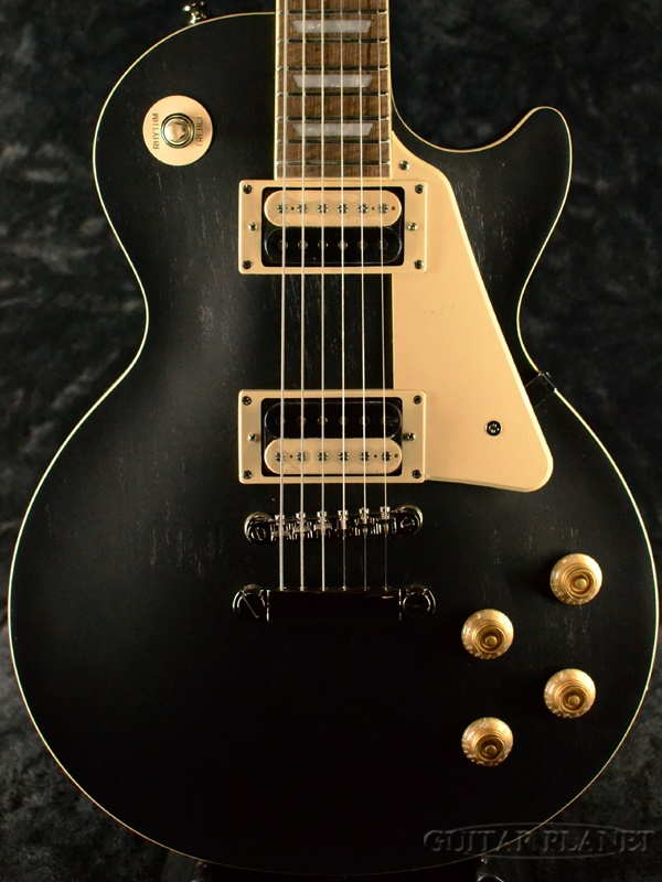 【2020年NEWモデル】Epiphone Les Paul Classic Worn -Ebony- 新品 エボニー[エピフォン][レスポールクラシックウォーン][Black,ブラック,黒][エレキギター,Electric Guitar]