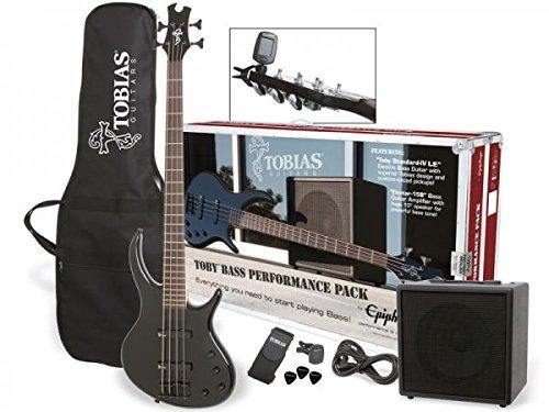 【お得な入門セット付!!】Epiphone Toby Bass Performance Pack 100V Ebony 新品[エピフォン][トビー][Black,エボニーブラック,黒][Electric Bass,エレキベース]
