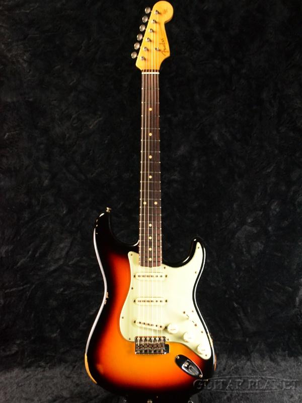 Fender USA Custom Shop ~2016 Custom Collection~ 1961 Stratocaster Relic -3 Color Sunburst- 新品[フェンダーカスタムショップ,CS][ストラトキャスター][サンバースト][Electric Guitar,エレキギター][CZ528585]