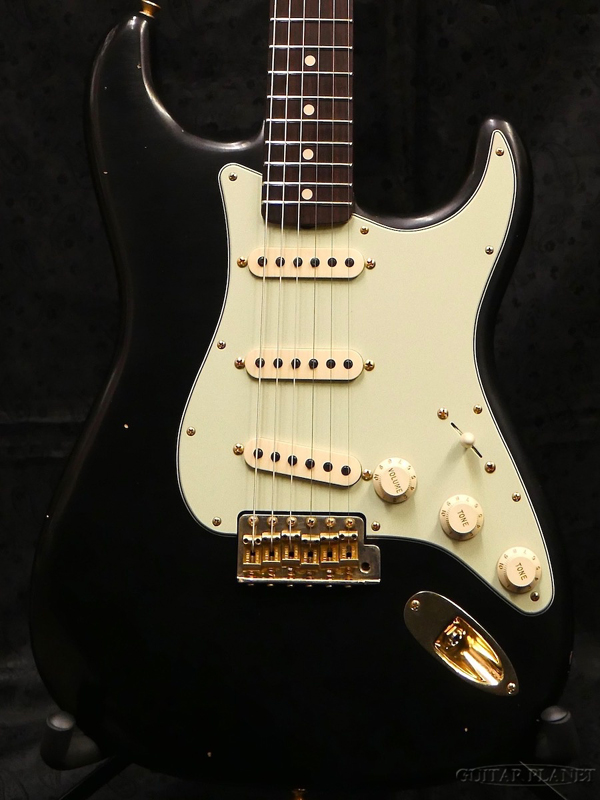 Fender Custom Shop MBS 1963/64 Stratocaster Journeyman Relic -Aged Black with Gold Hardware- by Kyle McMillin 新品[フェンダーカスタムショップ,CS][ストラトキャスター][サンバースト,木目][Electric Guitar,エレキギター]
