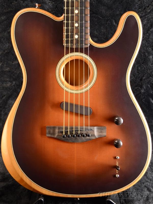 Fender USA American Acoustasonic Telecaster -Sunburst / Ebony- 新品[フェンダーUSA][サンバースト][テレキャスター][Electric Guitar,エレキギター]