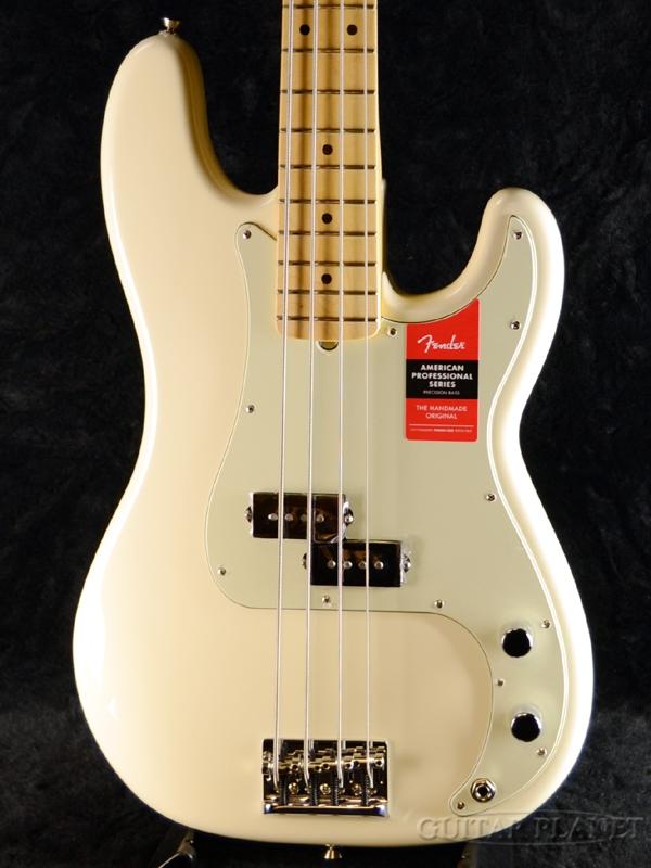 Fender USA American Professional Precision Bass Olympic White 新品[フェンダー][アメリカンプロフェッショナル,アメプロ][オリンピックホワイト,白][プレシジョンベース,プレべ,PB][Electric Bass,エレキベース]