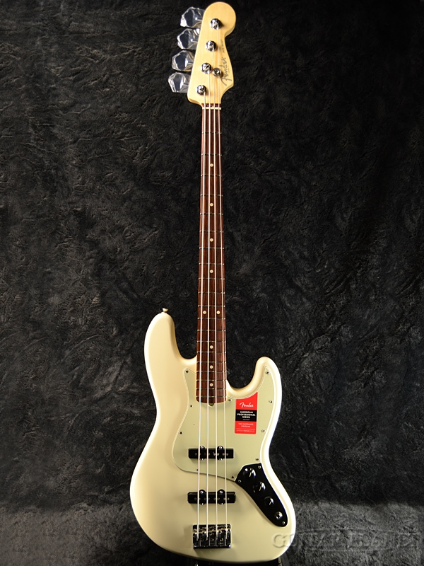 Fender USA American Professional Jazz Bass -Olympic White/Rosewood- 新品[フェンダー][アメリカンプロフェッショナル,アメプロ][ジャズベース][オリンピックホワイト,白][Electric Bass,エレキベース]