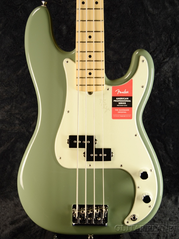 Fender USA American Professional Precision Bass Antique Olive 新品[フェンダー][アメリカンプロフェッショナル,アメプロ][アンティークオリーブ,緑][プレシジョンベース,プレべ,PB][Electric Bass,エレキベース]