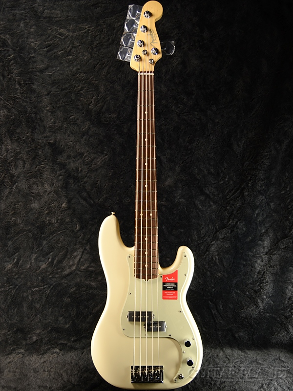 Fender USA American Professional Precision Bass V Olympic White 新品[フェンダー][アメリカンプロフェッショナル,アメプロ][5strings,5弦][オリンピックホワイト,白][プレシジョンベース,プレべ,PB][Electric Bass,エレキベース]