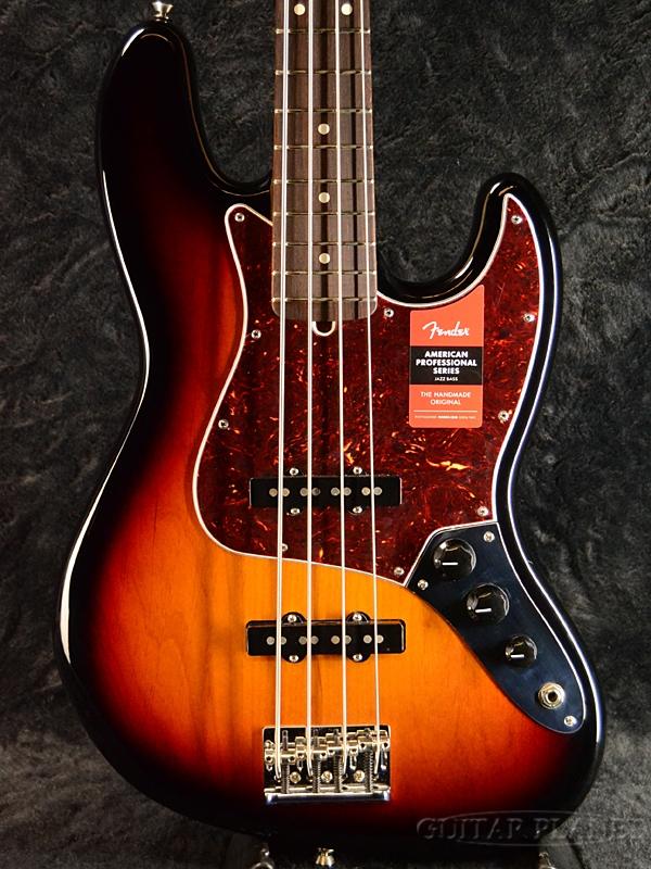 Fender USA American Professional Jazz Bass -3 Color Sunburst/Rosewood-
