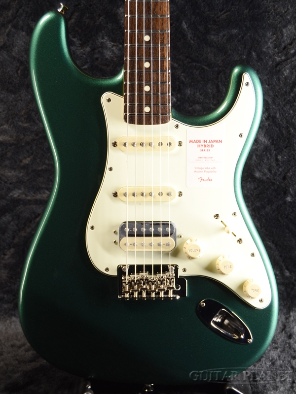 Fender Made in Japan Hybrid 60s Stratocaster HSS -Sherwood Green Metallic- 新品 《レビューを書いて特典プレゼント!!》[フェンダージャパン][ハイブリッド][グリーン,緑][ストラトキャスター][Electric Guitar,エレキギター]