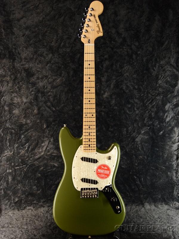 日本最級 Fender Mexico Mustang -Olive- 新品[フェンダーメキシコ][オリーブ,緑][ムスタング][エレキギター,Electric Guitar], 【お年玉セール特価】 ad46f356