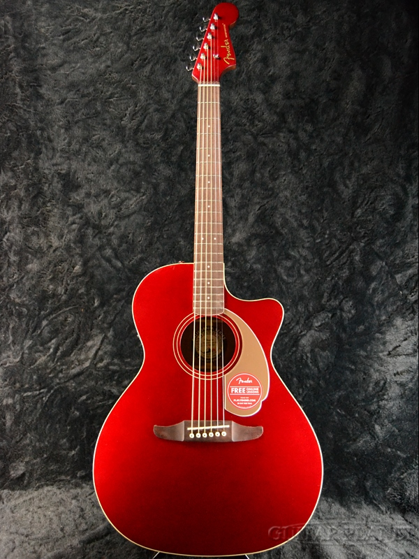 Fender Newporter PlayerCandy Apple Red 新品[フェンダー][California Series,カリフォルニアシリーズ][ニューポータープレイヤー][キャンディアップルレッド,赤][Electric Acoustic Guitar,アコースティックギター,アコギ,エレアコ]