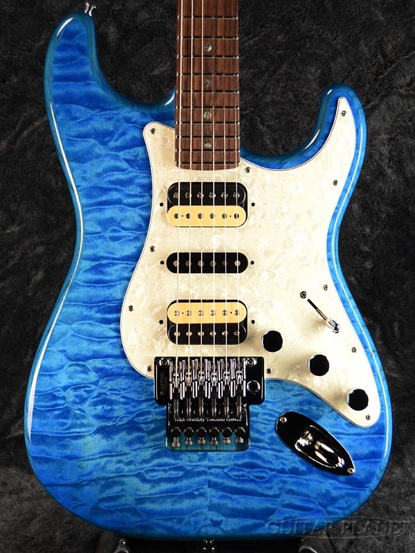 Fender Michiya Haruhata Stratocaster -Caribbean Blue Trans- 新品[フェンダージャパン][春畑道哉,TUBE][ブルー,青,木目][ストラトキャスター][Electric Guitar,エレキギター]