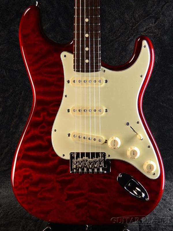 最前線の Fender FSR Made In Japan Hybrid 60s Stratocaster Quilt Top / Transparent Red 新品[フェンダージャパン][ハイブリッド][トランスレッド,赤][ストラトキャスター][Electric Guitar,エレキギター], お値打ち本舗 04b509f4